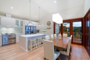 New Kitchen and Dining area in New Home in Bayside, Melbourne.