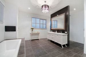 Stylish designer bathroom with modern fittings by Blints in McKinnon