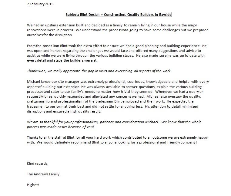 Andrews Letter